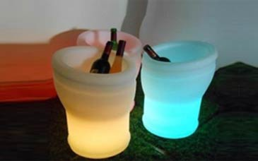 LED Champagner-Behaelter
